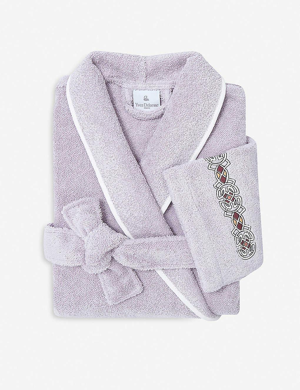 YVES DELORME - Palatin large cotton-blend bath robe  92d319ff8