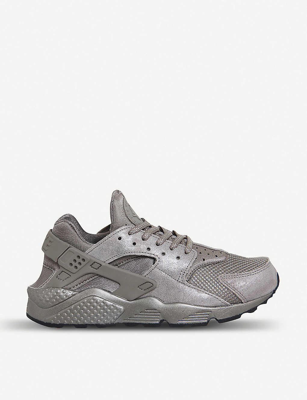 8c6b820f894d NIKE - Air Huarache metallic-suede and neoprene trainers ...