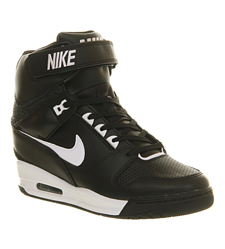 buy popular 08e88 1d936 ... NIKE Air revolution sky high-tops (Black+black+white. PreviousNext