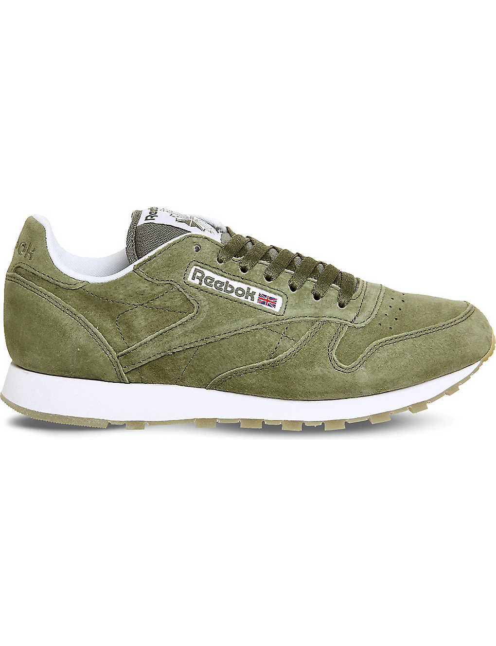 74608748c40 REEBOK - Classic lace-up suede trainers