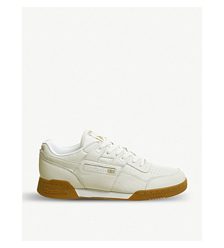 ... REEBOK Workout Lo Plus leather trainers (Chalk+gum. PreviousNext 0b87ac516