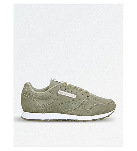 ... REEBOK Classic suede trainers (Khaki+glitter+ice. PreviousNext 24b9e0361