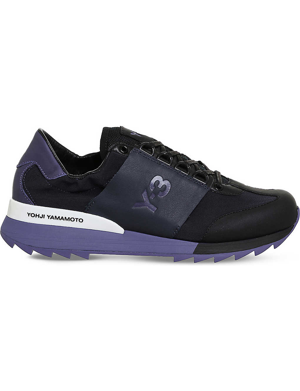 ba846a8695b2 ADIDAS Y3 - Rhita Sport leather and mesh trainers