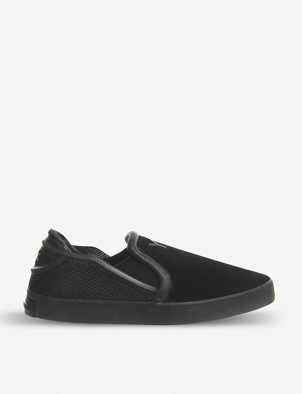 28babc14a ADIDAS - Y3 Laver suede and mesh slip-on trainers