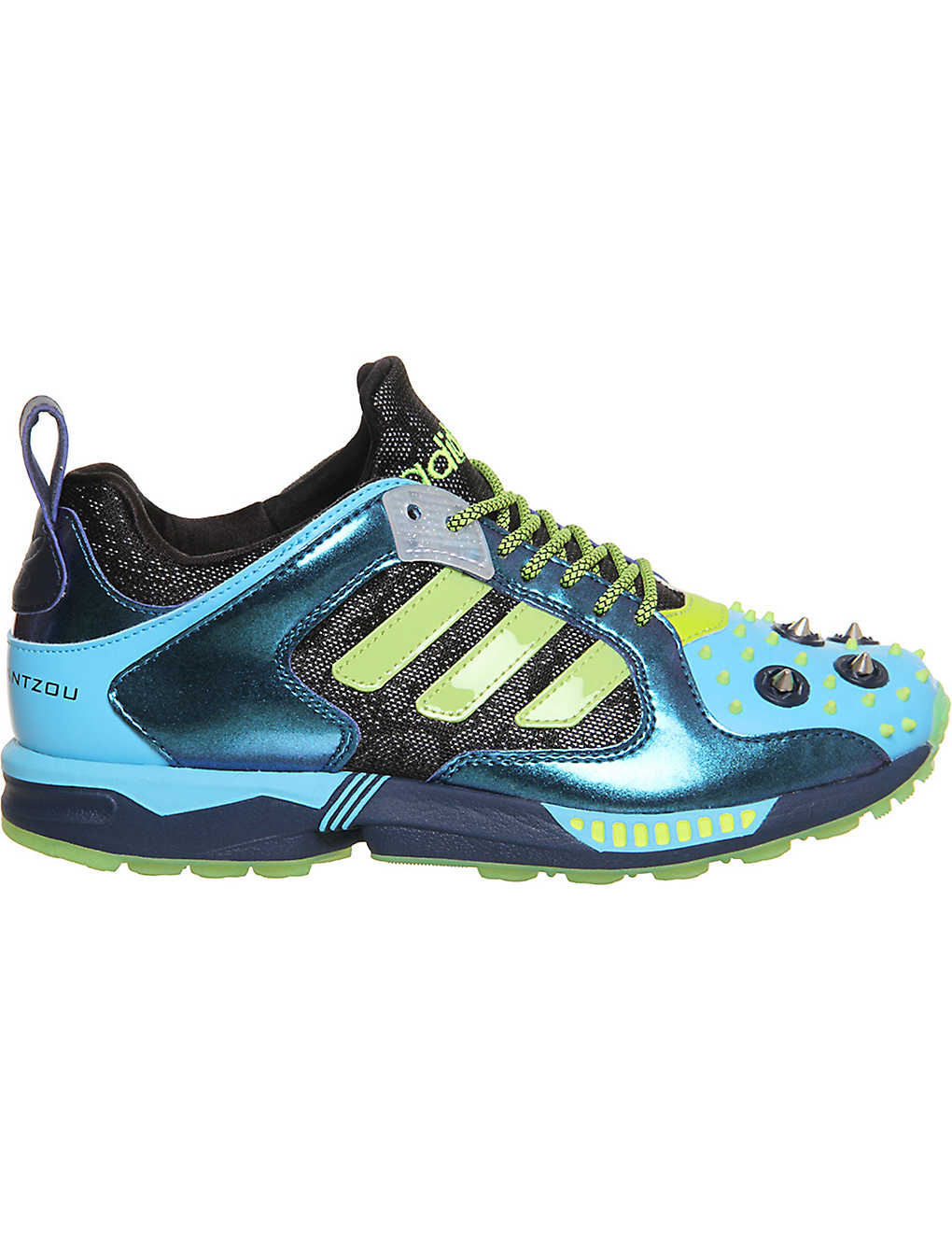 ADIDAS - Decathlon silver stud zx 5000 sneakers by mary katrantzou ... 698ee5a88ea7