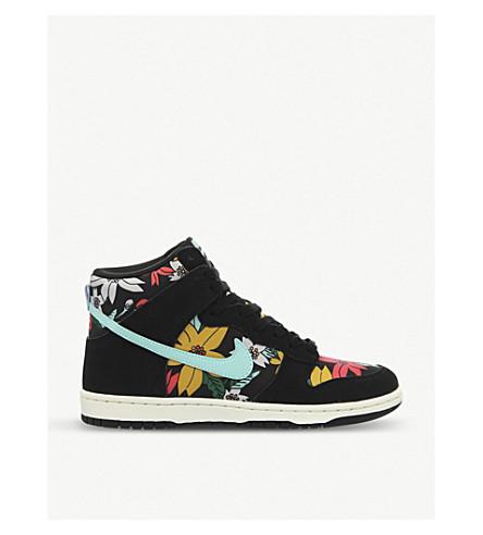 buy online ef8ec 09b34 ... nike dunk hi skinny aloha high top suede sneakers selfridges