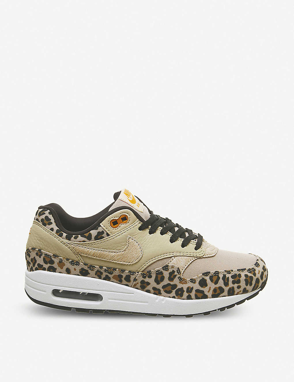 4479187e487bb NIKE - Air Max 1 leather and textile sneakers