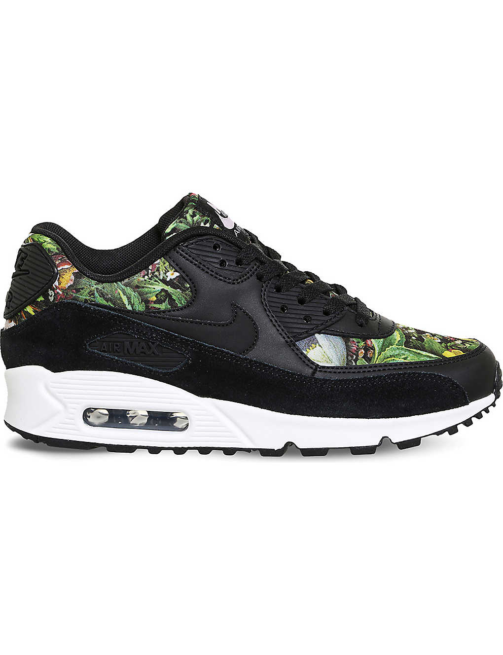 NIKE - Air Max 90 leather floral-print trainers  1ec1f098b2