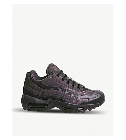 ... NIKE Air Max 95 leather and synthetic trainers (Oil+grey+lx.  PreviousNext bfdf2d67b