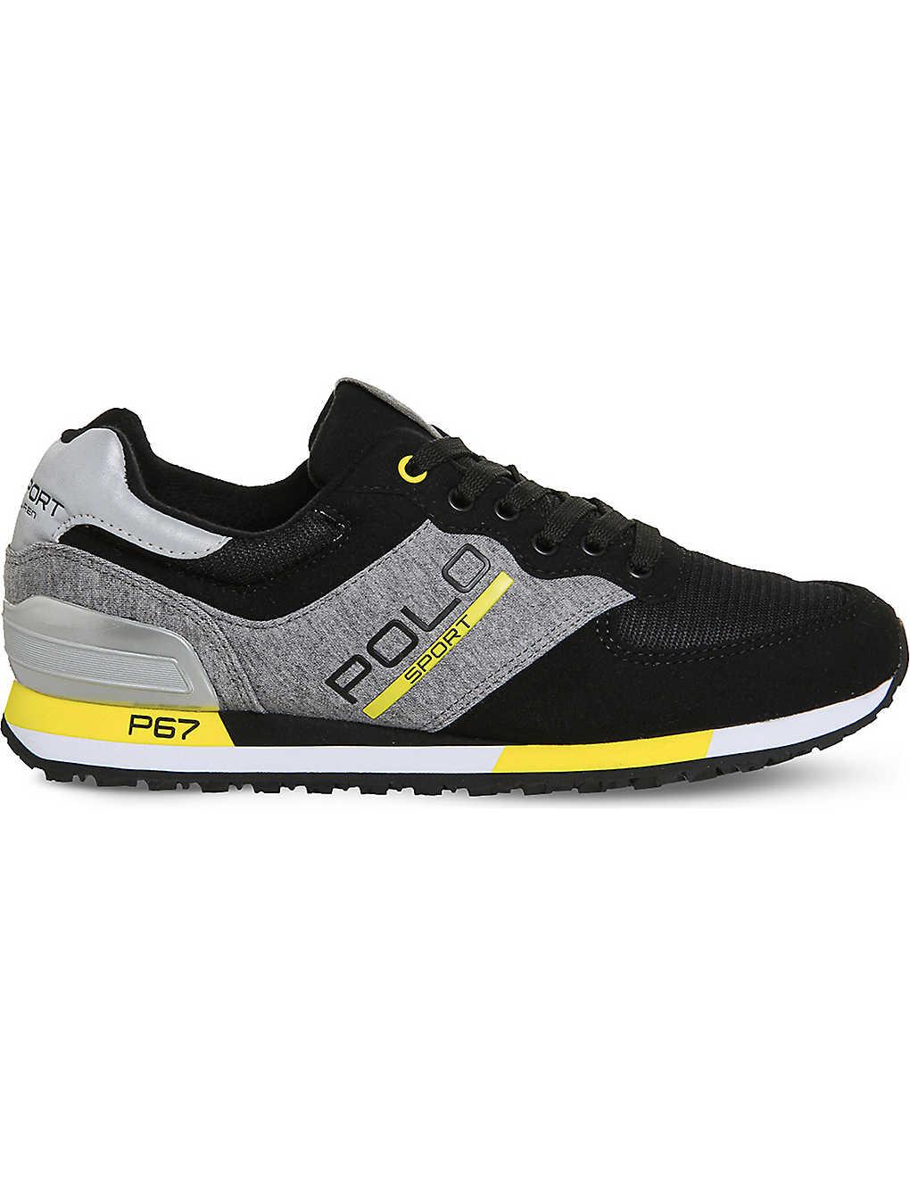 POLO RALPH LAUREN - Slaton jersey sneakers  c0c89c4ebf9