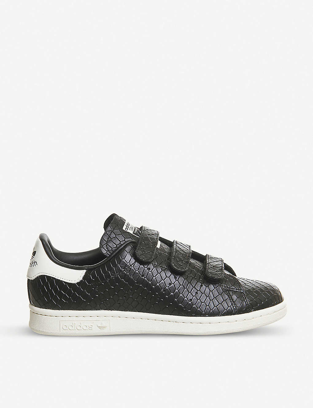 a2d7e82d63c ADIDAS - Stan Smith CF crocodile-embossed leather trainers ...