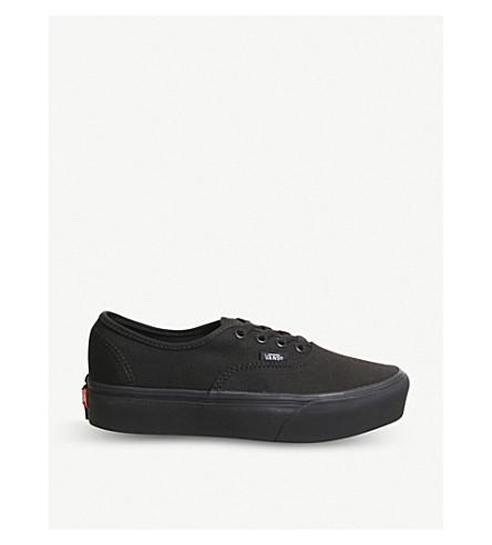 69549f4edc4 ... VANS Authentic platform canvas trainers (Black+black. PreviousNext