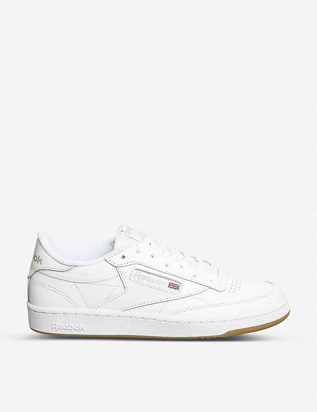 cd20062d3969 REEBOK Club c 85 leather low-top trainers