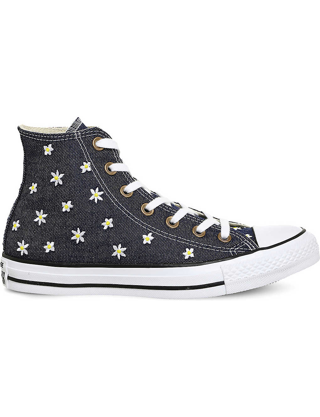 CONVERSE - All Star flower-embroidered canvas trainers  531bcf709