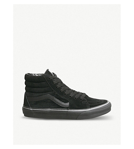 22a14b78e8 ... VANS Sk8 Hi canvas and suede trainers (Pirate+black+grey. PreviousNext