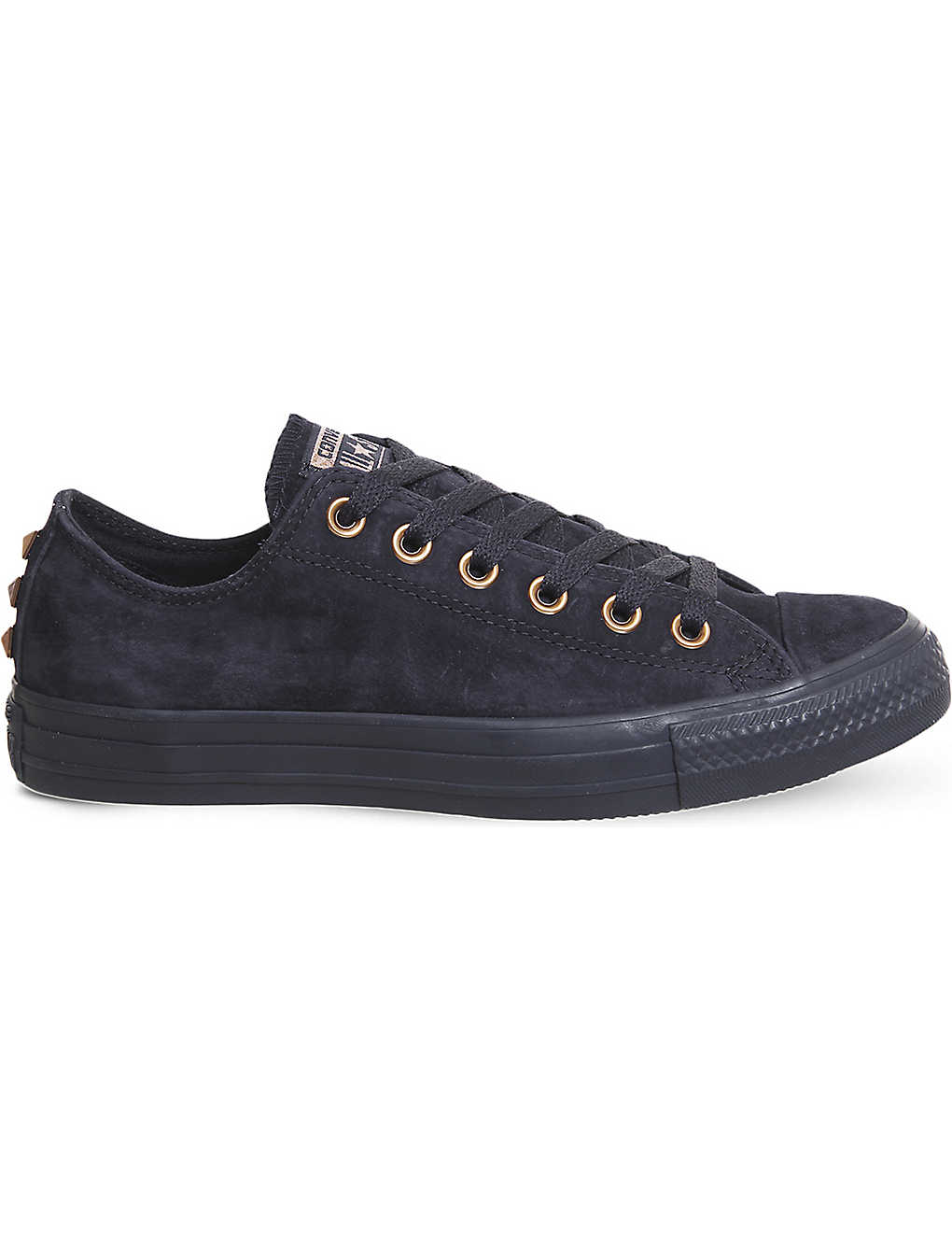 CONVERSE - All Star low-top leather studded trainers  230ca6370