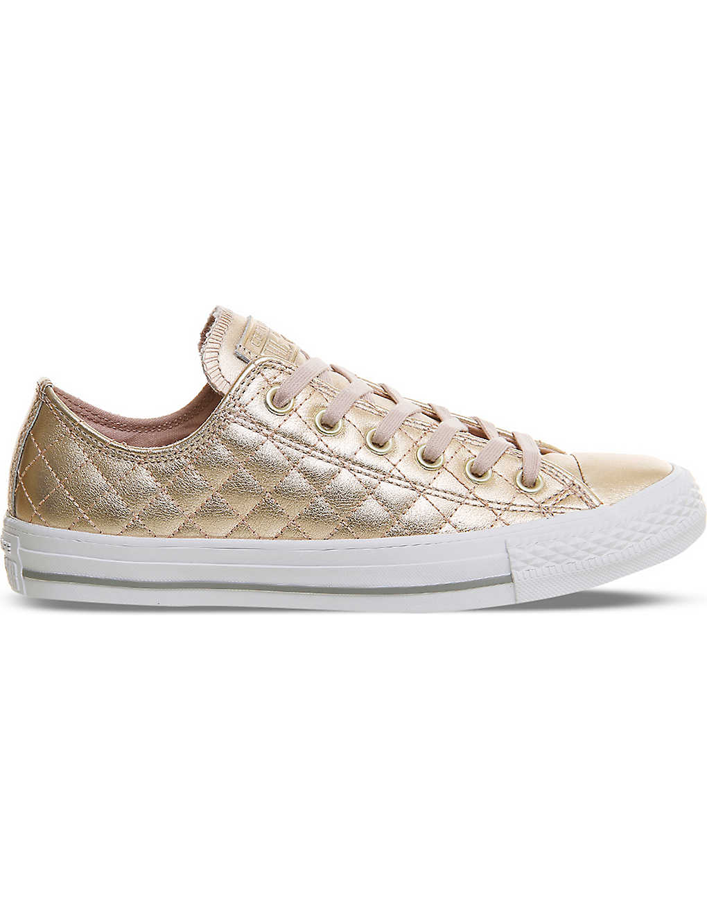 06b25b208c05 CONVERSE - All Star quilted metallic leather trainers