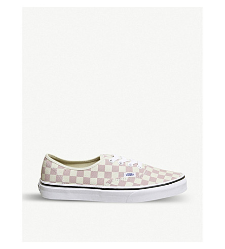 c225c5caccf ... VANS Authentic checkerboard-print canvas trainers (Chalk+pink+white.  PreviousNext