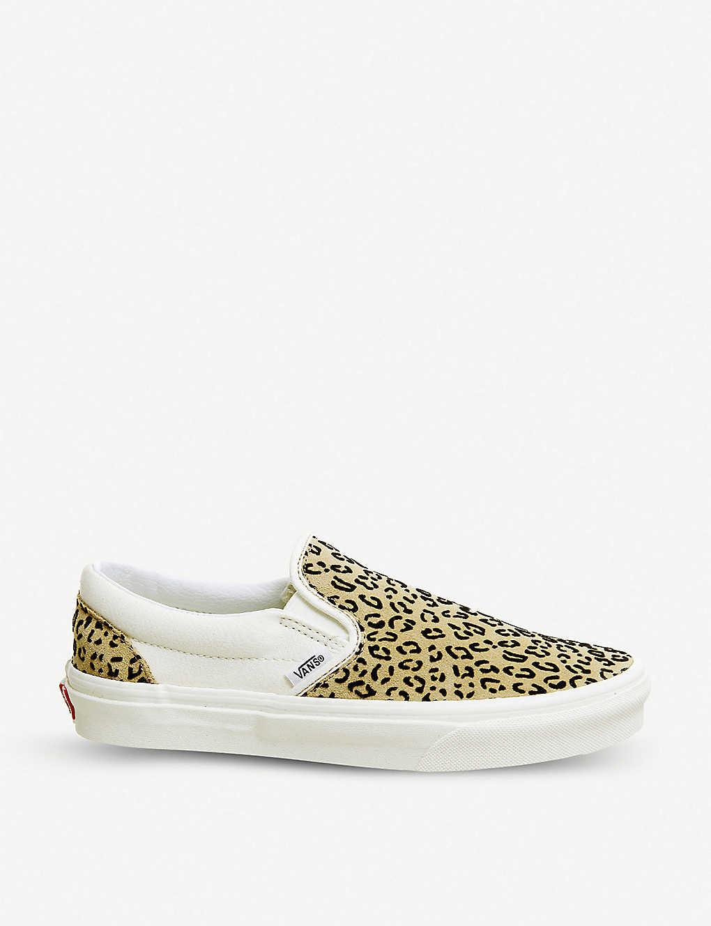 VANS - Classic leopard print canvas slip-on sneakers  954a03c04