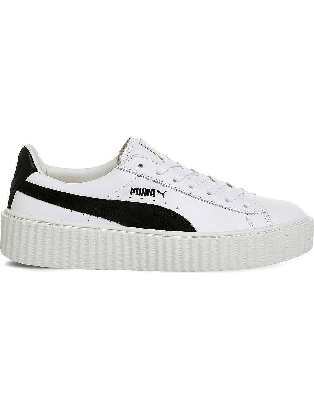 85f3ef8803e770 PUMA - Basket Creeper leather trainers