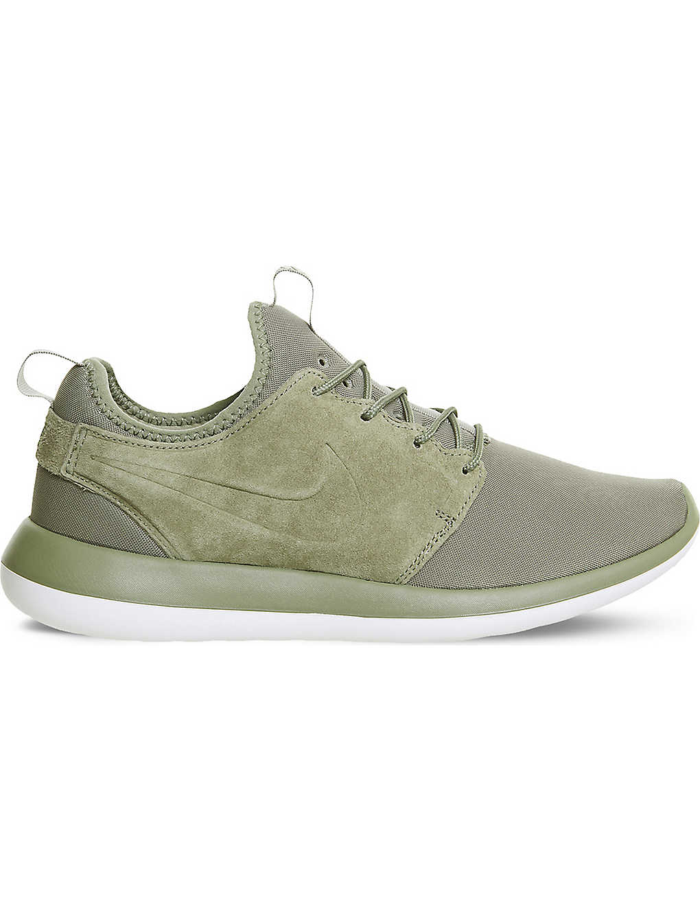 f713a5fe44695 NIKE - Roshe Two M Trooper suede and mesh trainers