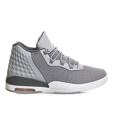 5f8778091622 ... NIKE Jordan academy mesh high-top trainers (Grey+white. PreviousNext