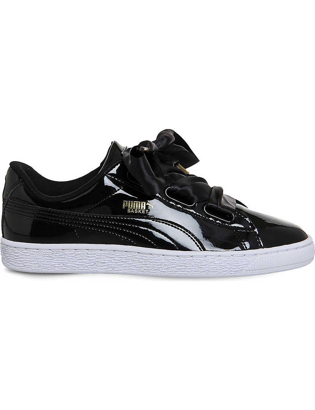 c5be3e449a8 PUMA - Basket Heart patent-leather trainers