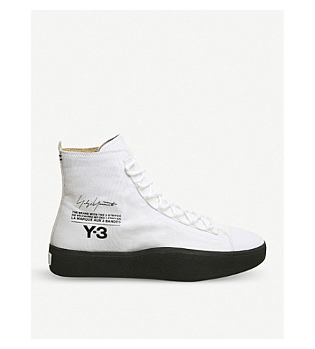 b70bebda1787 ... ADIDAS Y3 Y-3 Bashyo suede high-top trainers (White+black+. PreviousNext