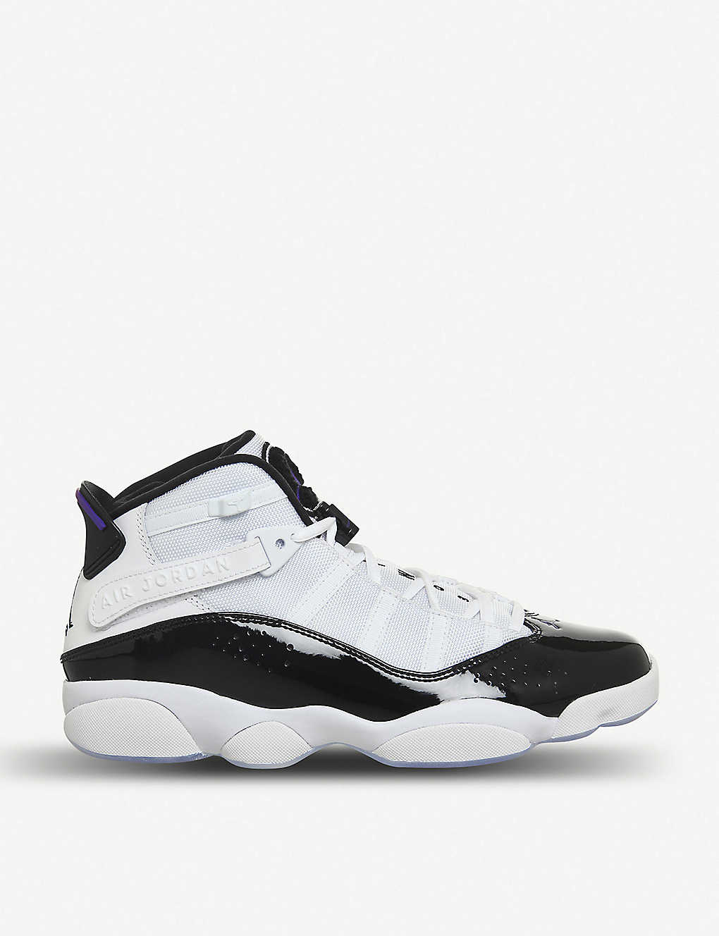 822693090f2 NIKE - Jordan 6 Rings patent-leather and mesh trainers