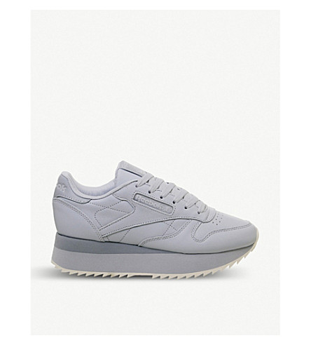 REEBOK - Classic Leather Double platform leather trainers ... 6be6fb49c