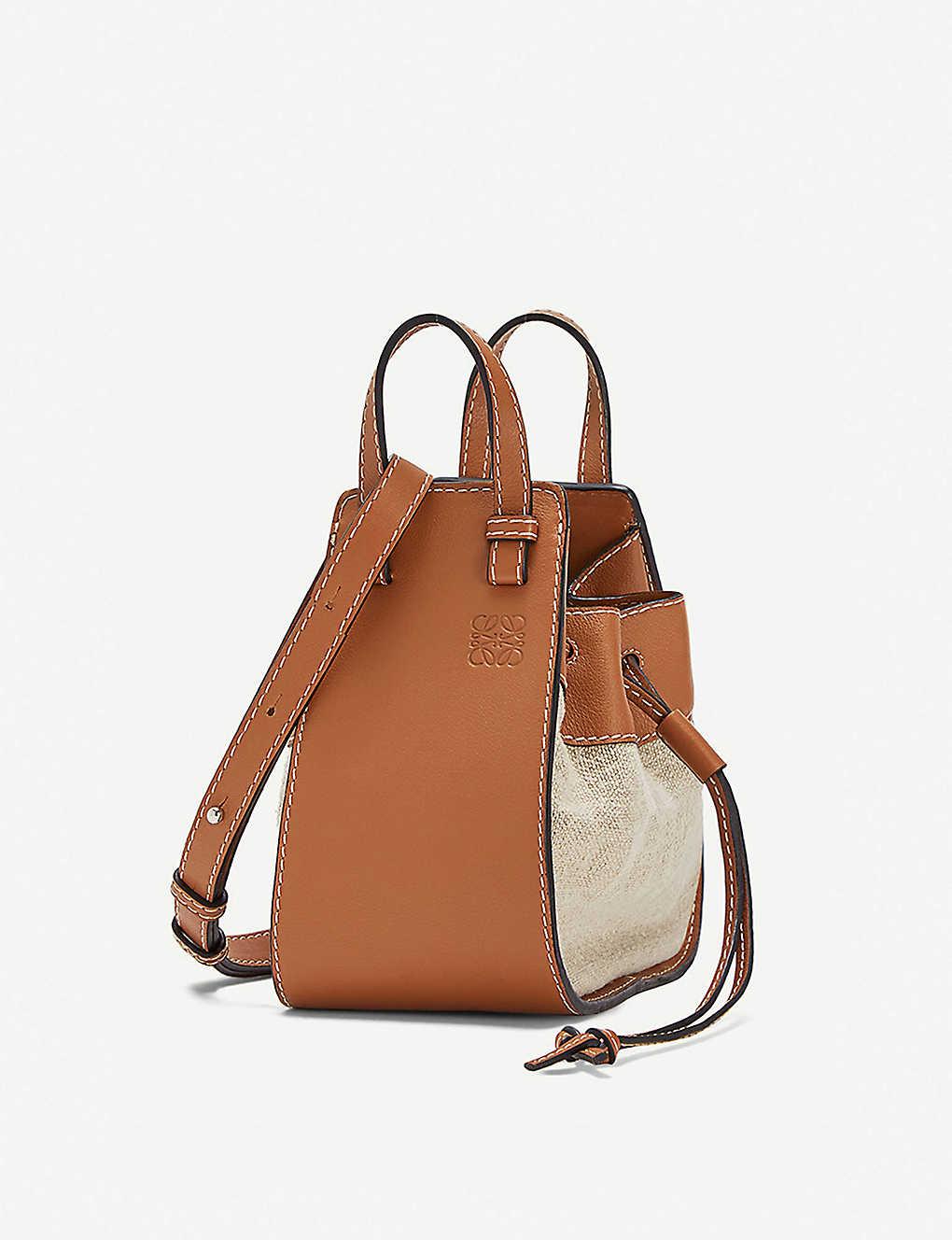 decc4c250de2 LOEWE - Hammock mini leather and canvas shoulder bag