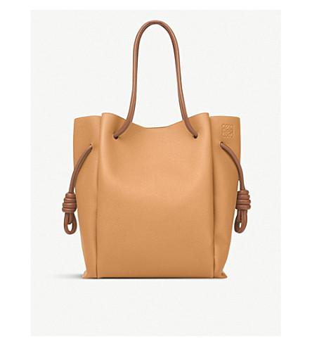 57d25a3b8d54 ... LOEWE Flamenco Knot leather shoulder bag (Light+caramel tan.  PreviousNext