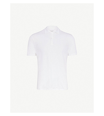 0e9bea27 ... SANDRO Slim-fit linen-jersey polo shirt (White. PreviousNext