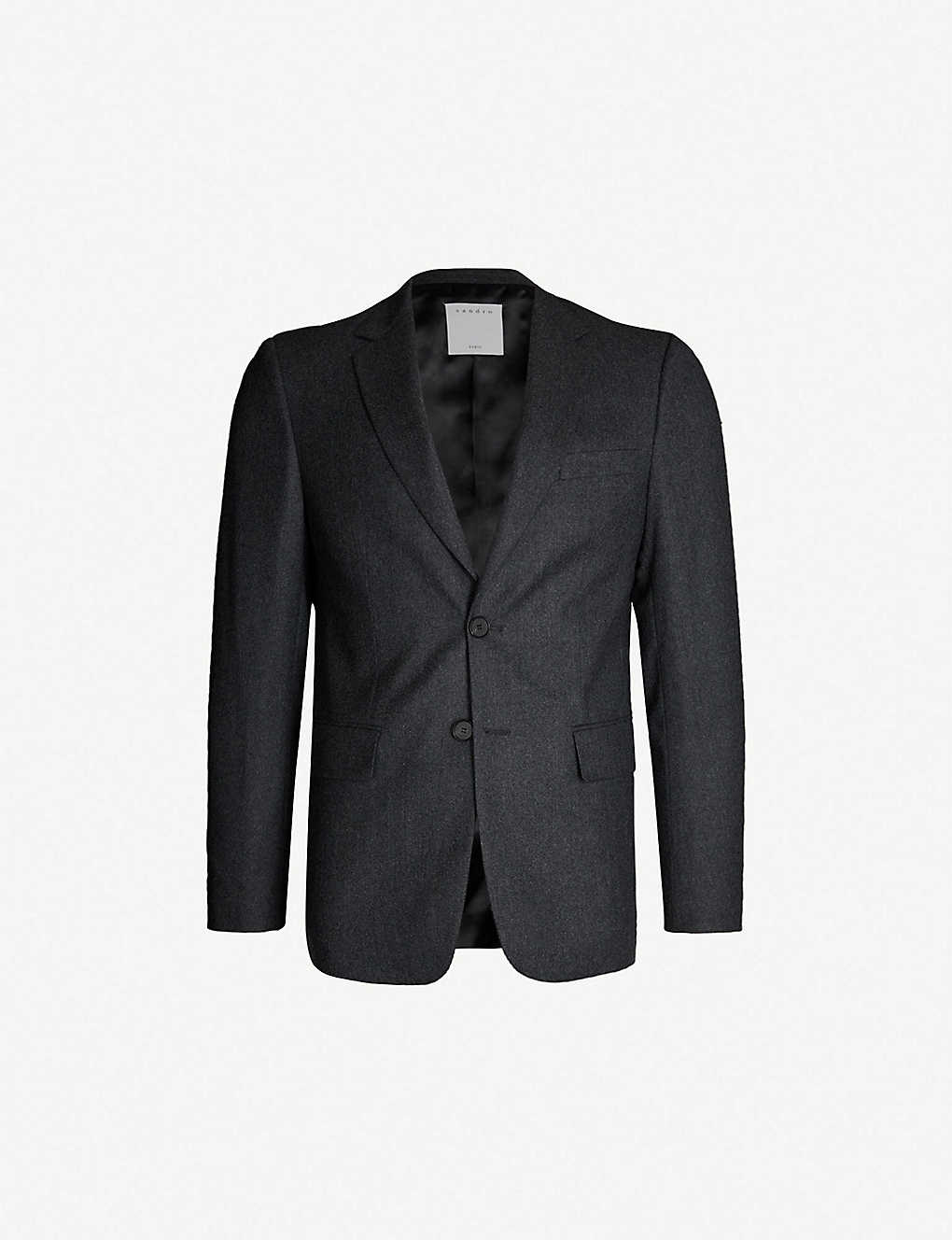 0ad6d65a19 SANDRO - Single-breasted wool blazer