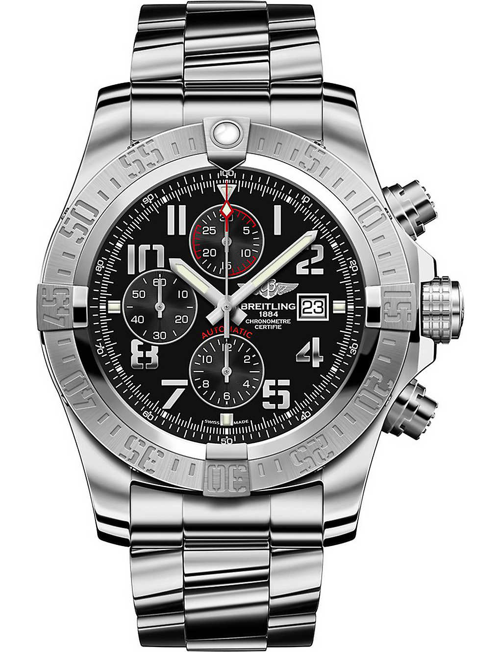 ed56984e300 BREITLING - A1337111 BC28 168A Super Avenger II stainless steel ...