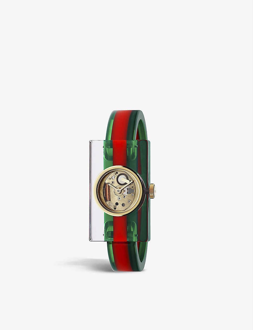1f00d264c0b GUCCI - YA143501 Plexiglas bangle watch