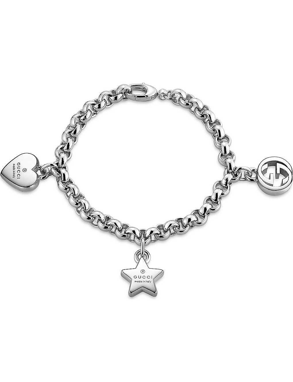 14cbbcab2 Us Usd English. Gucci Trademark Sterling Silver Charm Bracelet Selfridges  -> Source. Silver Trademark Charm Bracelet