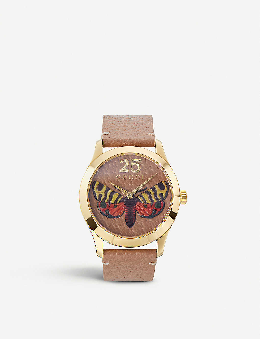 47d7af2f8f1 GUCCI - YA1264063 G-Timeless gold PVD and leather watch