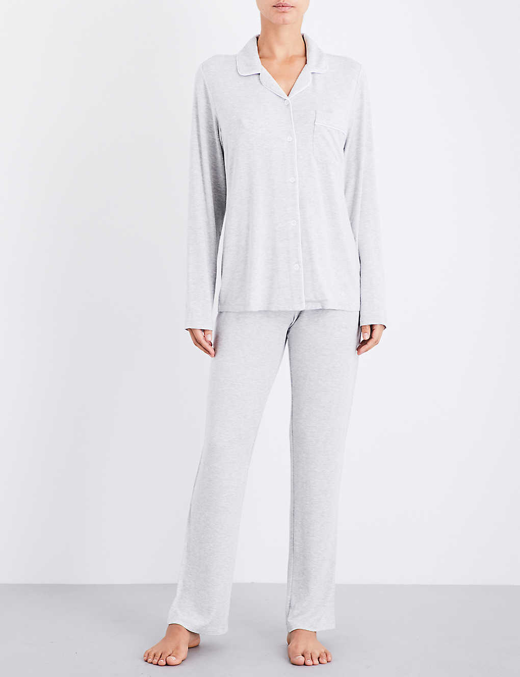 21deede024ff THE WHITE COMPANY - Contrast-piping jersey pyjama set