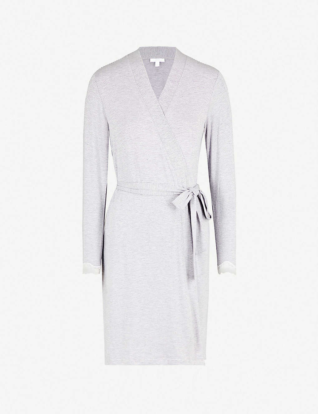 ae2fffaaff THE WHITE COMPANY - Lace trim jersey dressing gown