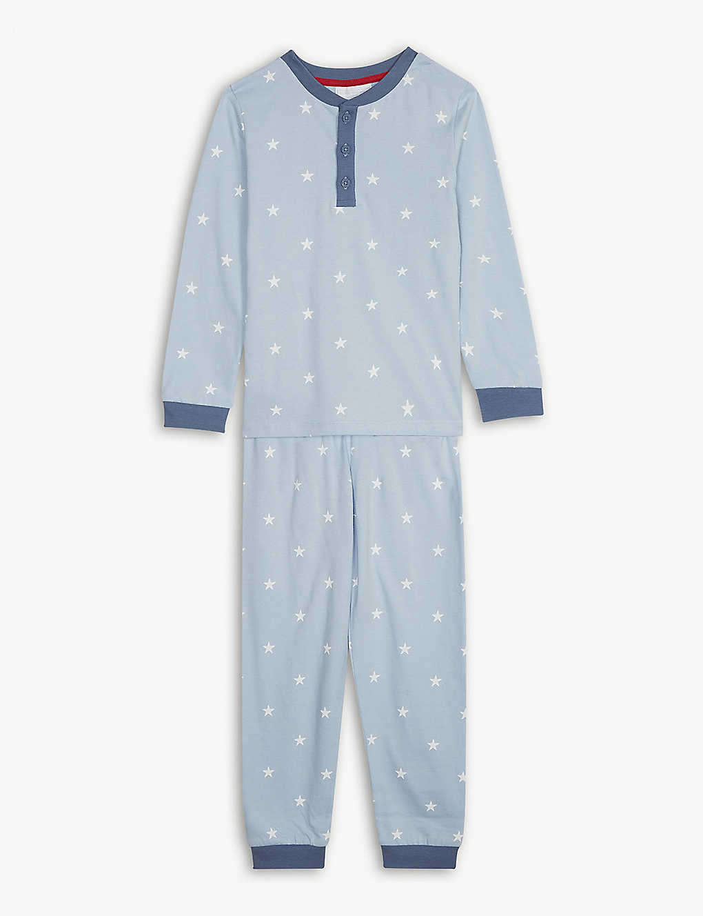 75966e98cced4 THE LITTLE WHITE COMPANY - Star-print cotton pyjamas 1-6 years ...