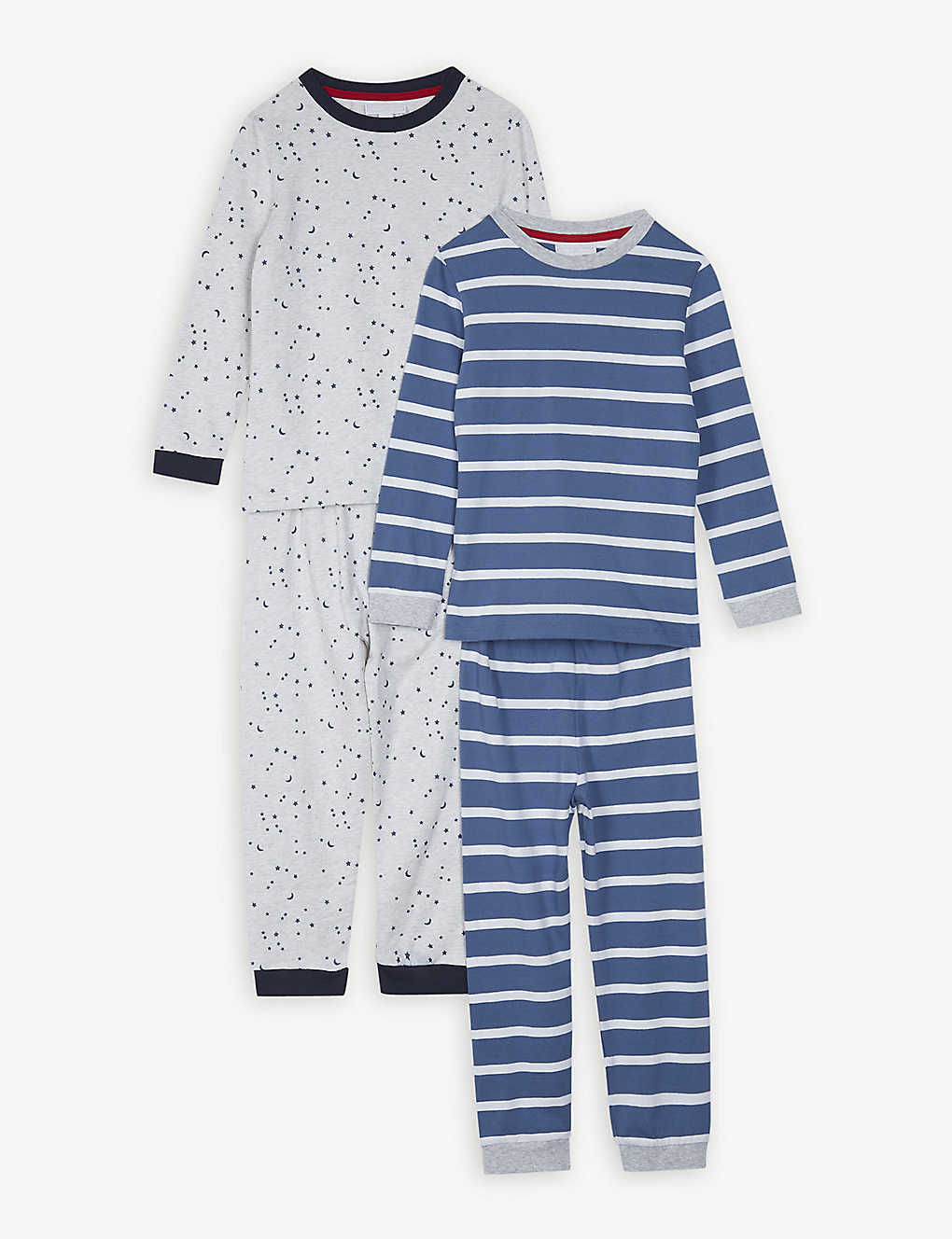 8a19a31083a1d THE LITTLE WHITE COMPANY - Star and stripe cotton pyjamas set of two ...