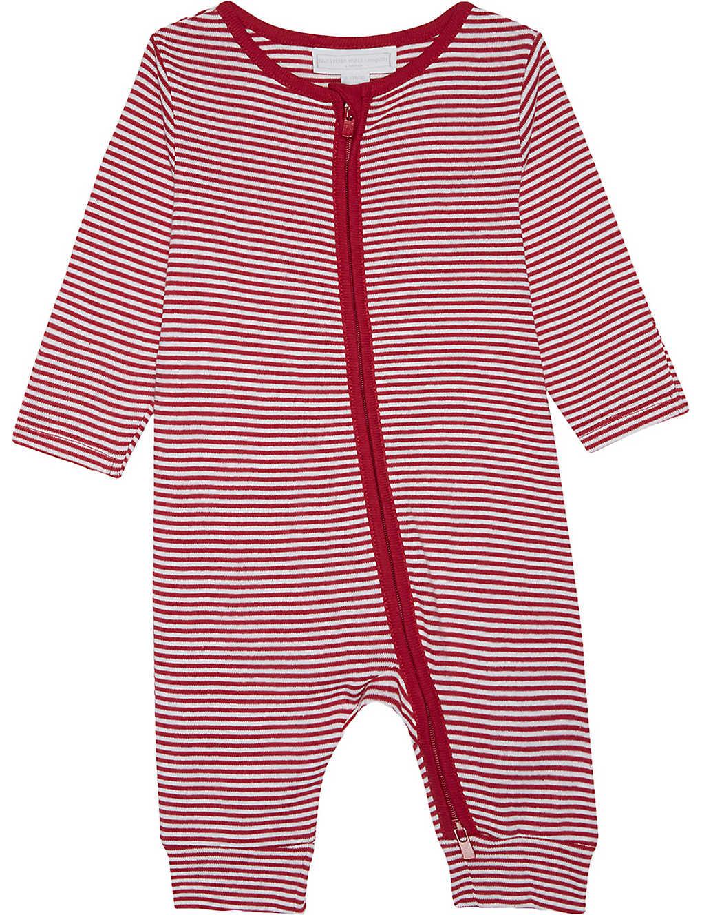 57733f1b83231 THE LITTLE WHITE COMPANY - Stripe zip-up sleepsuit