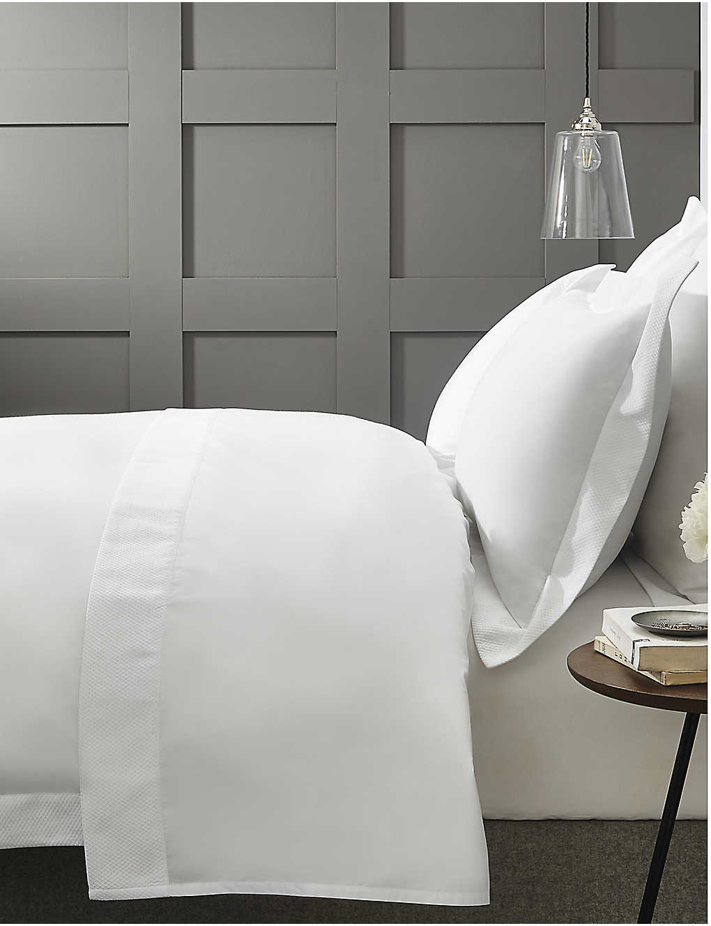 The White Company Westborne Cotton Pique Super King Bed Cover
