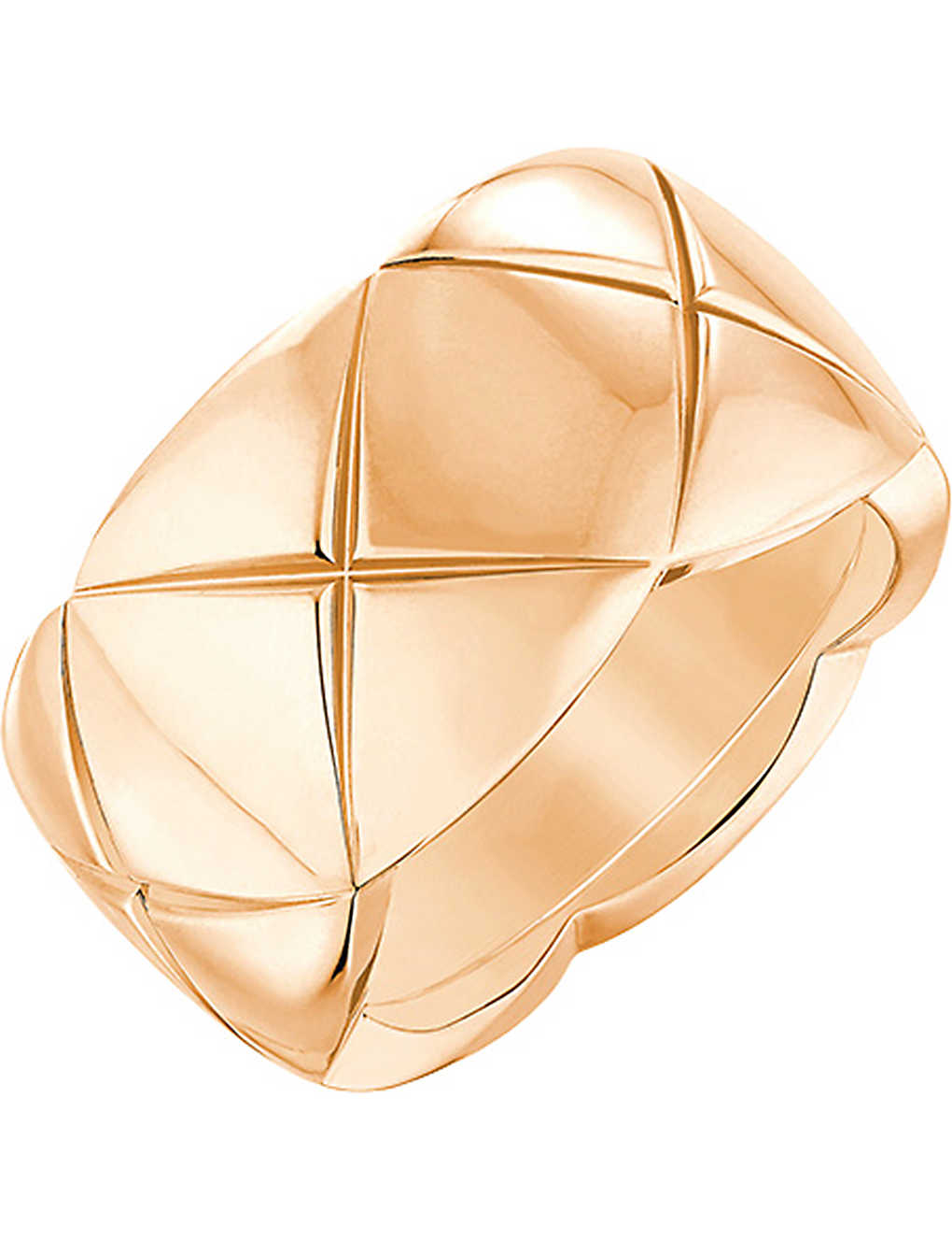 CHANEL - Coco Crush 18K beige gold ring. Medium version  db038697b2079