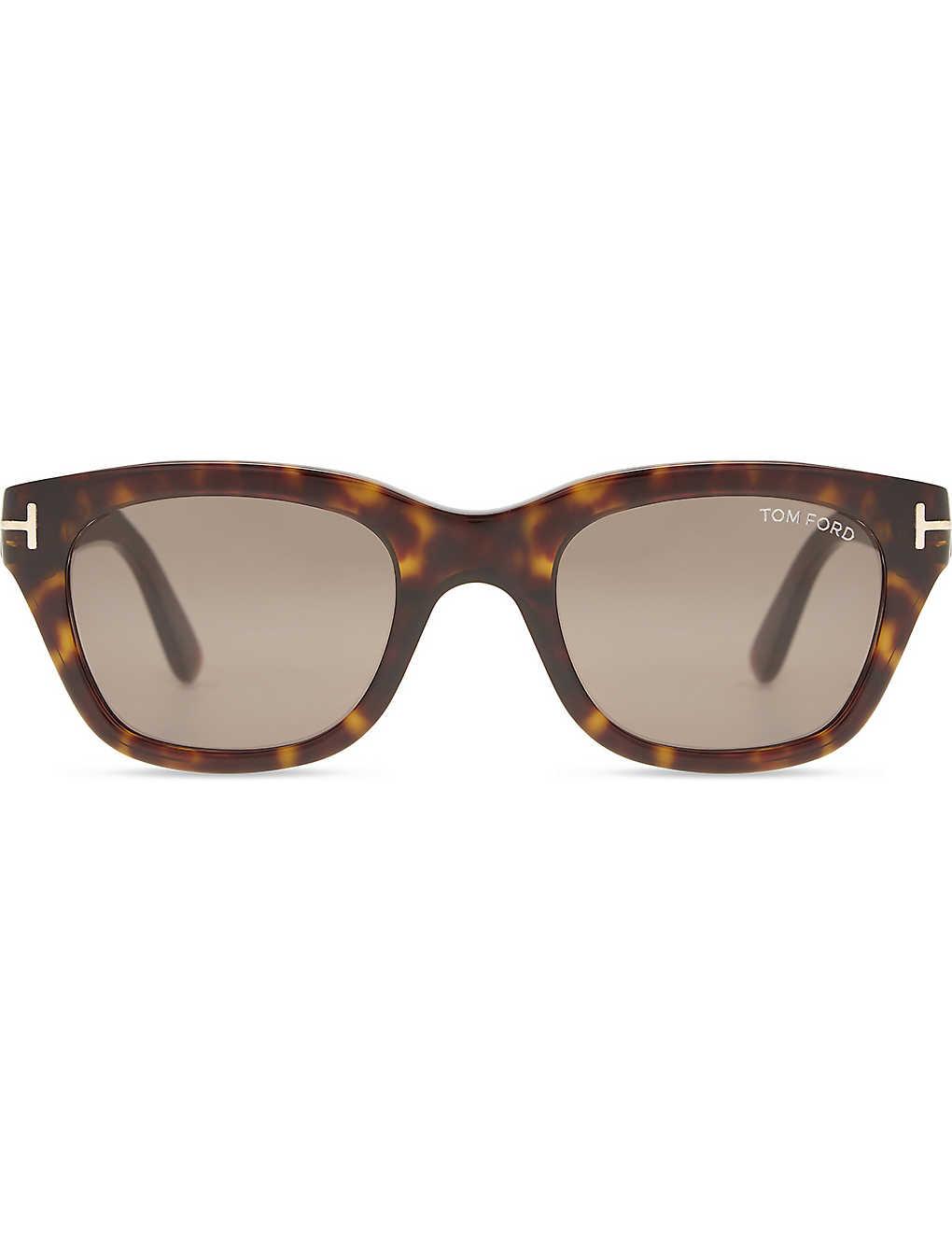 019c43ed7c TOM FORD - Snowdon tortoiseshell square-frame sunglasses ...