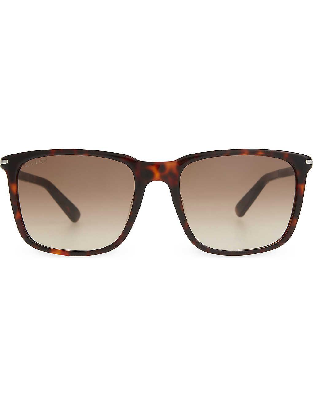 7428085373240 GUCCI - G1104 round tortoise shell sunglasses