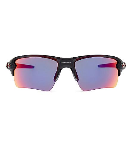 66aef45b7e4 ... OAKLEY Flak 2.0 XL Team Color wrap-around sunglasses (Polished+black.  PreviousNext