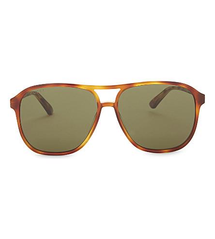 aea65737956 ... GUCCI Gg0016s square-frame sunglasses (Tortoise. PreviousNext