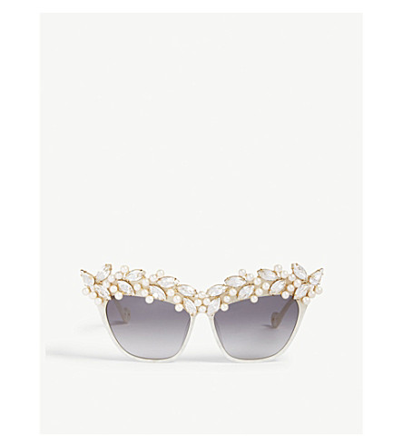 a072f4bb96 ... ANNA-KARIN KARLSSON Tears Of The Moon embellished cat eye sunglasses  (Pearl. PreviousNext